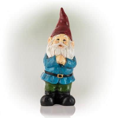 12 in. Tall Classic Outdoor Garden Gnome Yard Statue Decoration