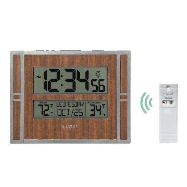 La Crosse Technology Atomic Digital, Best Atomic Wall Clock With Indoor Outdoor Temperature