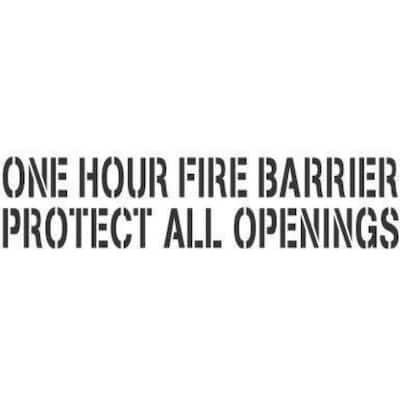 1-Hour Fire Wall Stencil