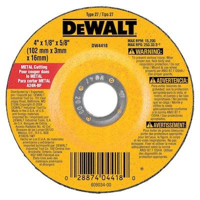 4 in. x 1/8 in. x 5/8 in. General Purpose Metal Cutting Wheel