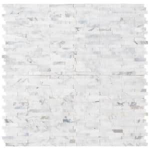 Calacatta Marbella Peel and Stick 12 in. x 12 in. x 6 mm Honed Marble Mosaic Tile (15 sq. ft. / case)