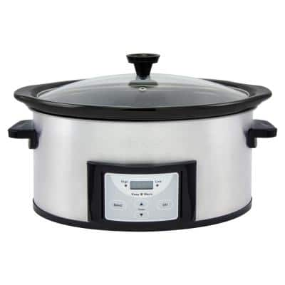 Pick-a-Pot 6 Qt. Stainless Steel Digital Slow Cooker