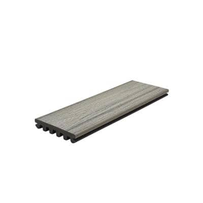 Enhance 1 in. x 5.5 in. x 1 ft. Foggy Wharf Composite Decking Board Sample (Model # FWE92000 )