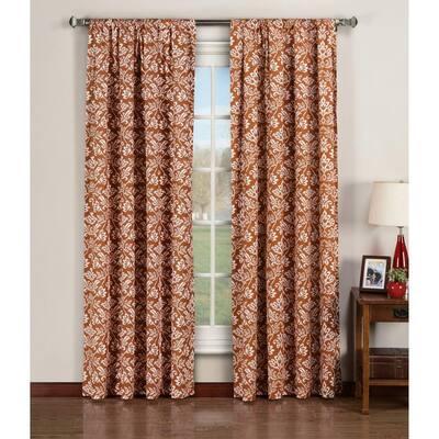 Rust Ikat Rod Pocket Room Darkening Curtain - 52 in. W x 84 in. L  (Set of 2)