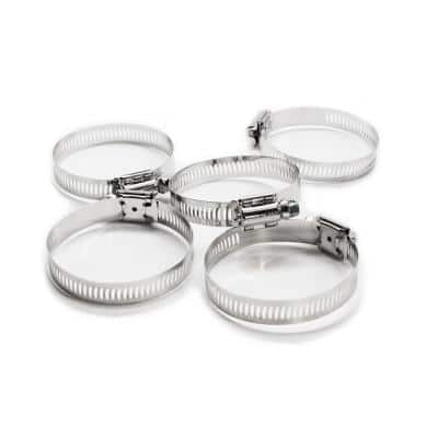 Marine Grade 300 Series Stainless Steel, SAE #32 Worm Gear Hose Clamps treated with NL19