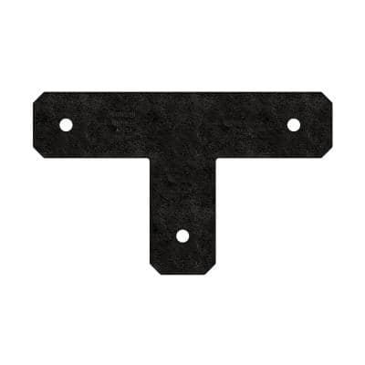 Outdoor Accents Avant Collection ZMAX, Black Powder-Coated T Strap for 4x4 Lumber