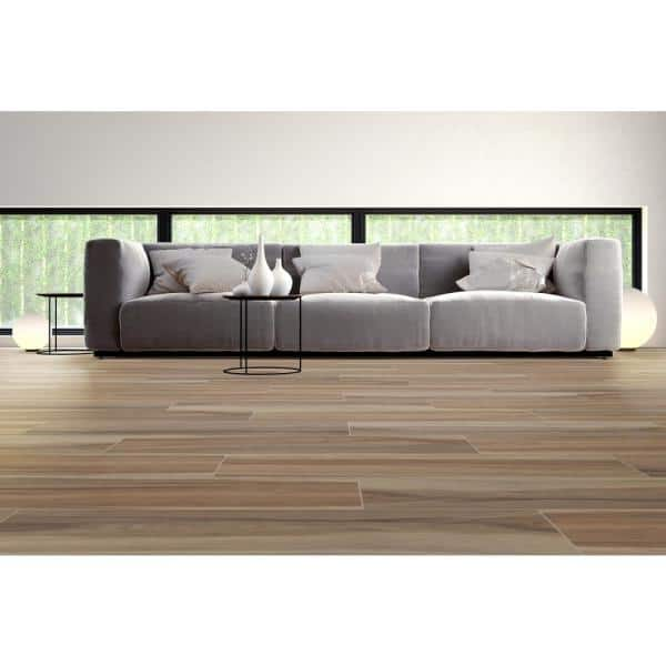 Msi 9 In X 38 In Ansley Amber Matte Ceramic Floor And Wall Tile 2 37 Sq Ft Nhdansamb9x38 The Home Depot