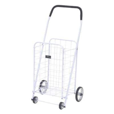 Mini Shopping Cart in White