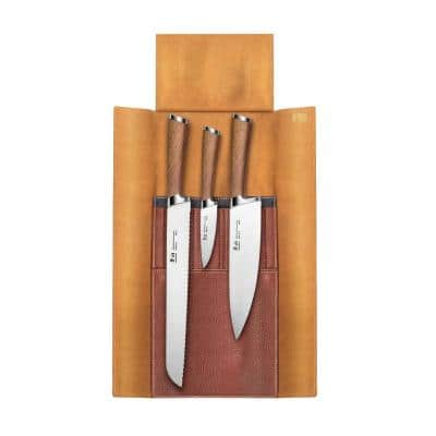 H1 Series 4-Piece Leather Roll Knife Set