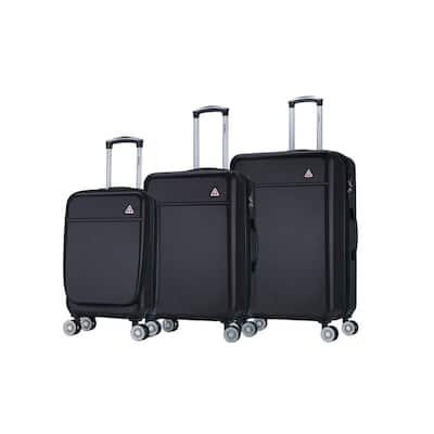 Avila lightweight hardside spinner 3 piece luggage set 20'',24'', 28'' in. Black