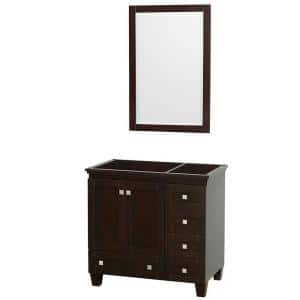 Acclaim 36 in. Vanity Cabinet with Mirror in Espresso