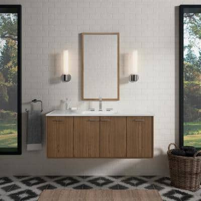 Jute 48 in. Vanity Cabinet Only in Walnut Flax