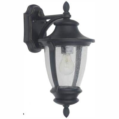 Wilkerson 1-Light Black Outdoor Wall Lantern Sconce