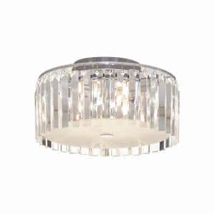 5-Light Frosted Ceiling Lamp with Clear Decorative Glass Plates