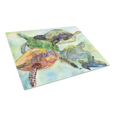 Caroline S Treasures Turtle Tempered Glass Large Heat Resistant Cutting Board 8549lcb The Home Depot