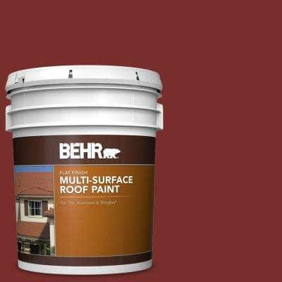 5 gal. #PPU2-02 Red Pepper Flat Multi-Surface Exterior Roof Paint