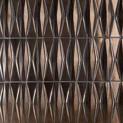 Delphi Harlequin Metallic Copper 13 in. x 16 in. Polished Ceramic Mosaic Tile (1.41 sq. ft./Sheet)