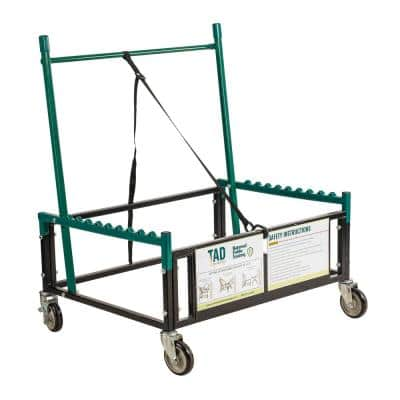 1,000 lbs. Steel Table Assist Dolly for Storage and Transport in Black