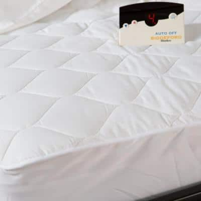 7.1 in. Twin Polyester Mattress Pad