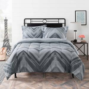 Linden 3-Piece Grey Diamond Full Comforter Set