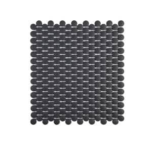 Shadow Mountain Gray 11.50 in. x 9.875 in. Penny Round Matte Porcelain Wall and Floor Mosaic Tile (0.788 sq. ft./Each)