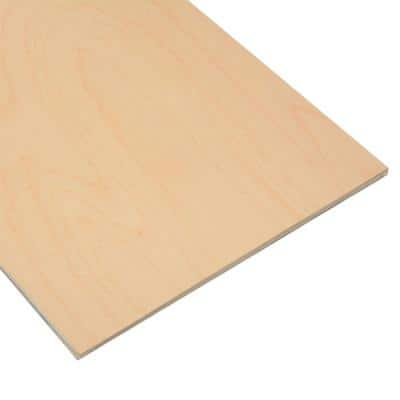 1/4 in. x 12 in. x 20 in. Birch Plywood (4-Pack)