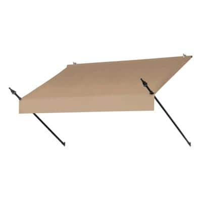 6 ft. Designer Manually Retractable Awning (36.5 in. Projection) in Sand