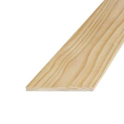 1 in. x 8 in. x 8 ft. S4S Radiata Pine Board