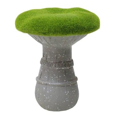 6.5 in. Artificial Moss Covered Mushroom Outdoor Garden Statue