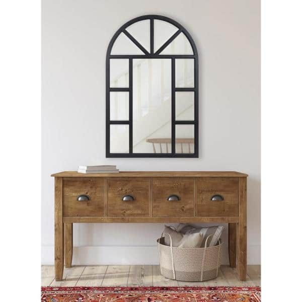 Kate and Laurel Hogan 36 in. x 24 in. Classic Arch Framed Black ...