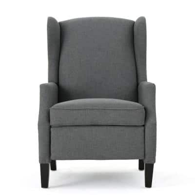 Wescott 27 in. Width Big and Tall Charcoal Polyester Wing Chair Recliner