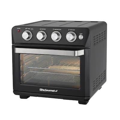 Elite Gourmet Deluxe 25L Air Fryer Oven Black