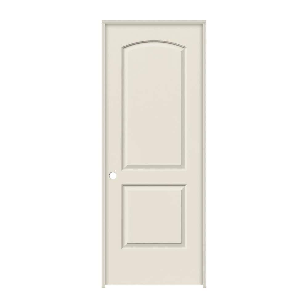 Jeld Wen 24 In X 80 In Continental Primed Right Hand Smooth Molded Composite Mdf Single Prehung Interior Door Thdjw137000597 The Home Depot