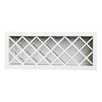 Ready to Assemble 30x15x12 in. Shaker Wall Wine Rack in White
