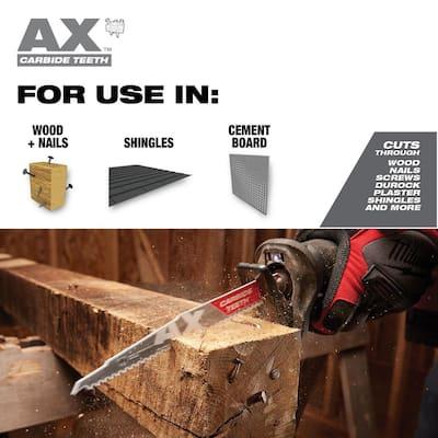 9 in. 5 TPI AX Carbide Teeth Demo Nail Embedded Wood Cutting SAWZALL Reciprocating Saw Blade (1-Pack)