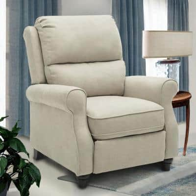 36 in. Width Big and Tall Buff Fabric 3 Position Manual Recliner