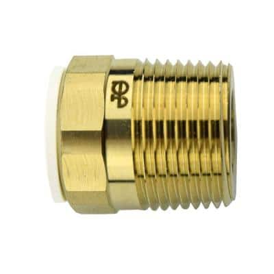 1/2 in. x 3/4 in. Brass Push-to-Connect Male Connector Fitting (10-Pack)