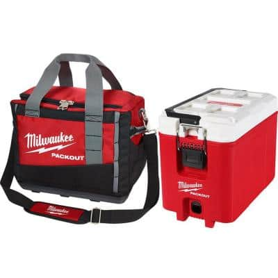 Milwaukee 15 in. PACKOUT Tool Bag w/ 16 Qt. Cooler