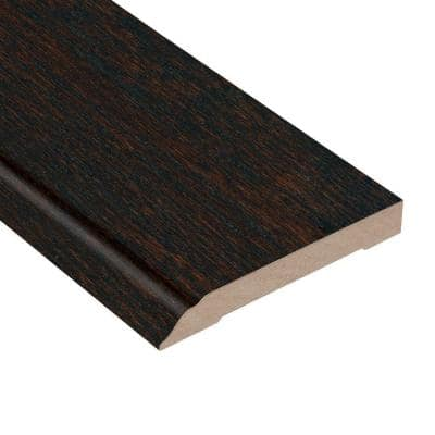 Oak Coffee 1/2 in. Thick x 3-1/2 in. Wide x 94 in. Length Wall Base Molding