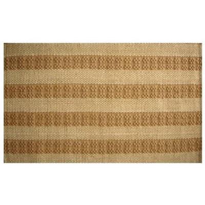 Jute Mat Natural Stripes 36 in. x 24 in. Natural Jute Door Mat