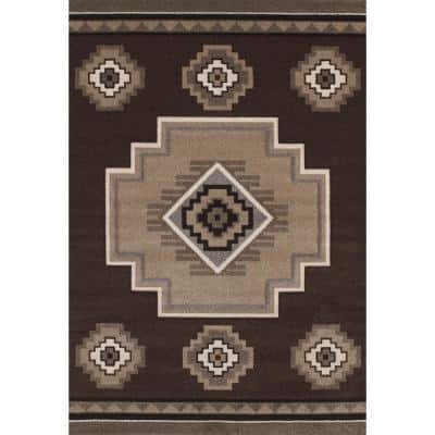 Mountain Brown 5 ft. x 8 ft. Area Rug