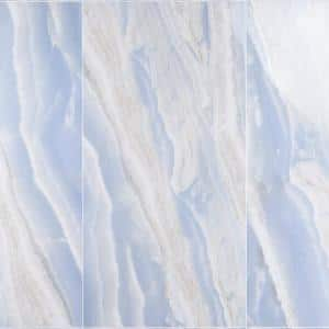 Selene Opera Blue 24 in. x 48 in. Polished Porcelain Floor and Wall Tile (15.49 sq. ft. / Case)