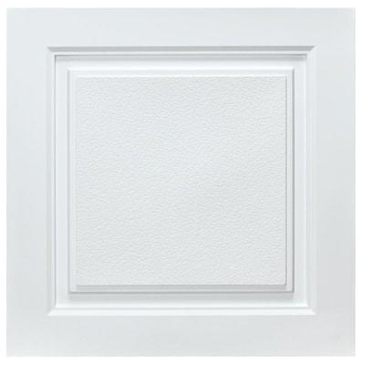 Westport 2 ft. x 2 ft. Lay-in Ceiling Tile in White (40 sq. ft. / case)