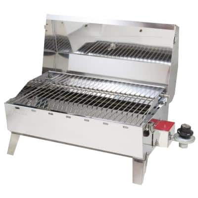 Portable Propane Gas Stow N Go 125 Heritage Grill in Stainless Steel