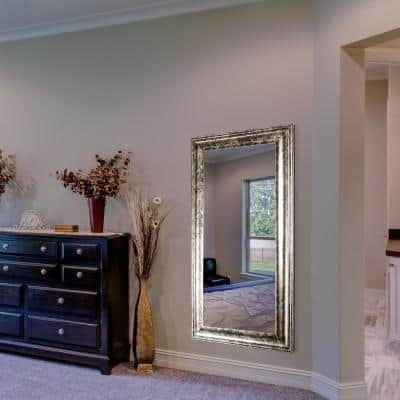 Large Rectangle Grey Modern Mirror (47 in. H x 25 in. W)