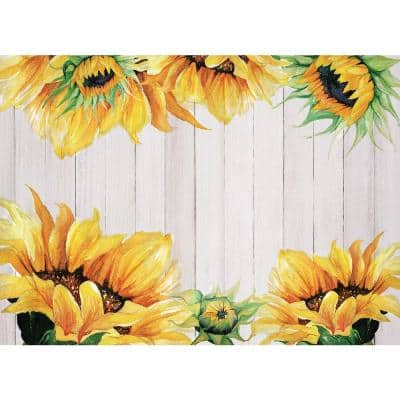 Sunflower 18 in. x 13 in. Multi Polypropylene Placemats (Set of 6)