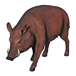 30.5 in. H Razorback Wild Boar Life Size Statue