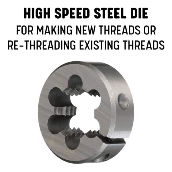Drill America DWT Series Qualtech Carbon Steel Hex Threading Die M12 x 1.25 Size Pack of 1