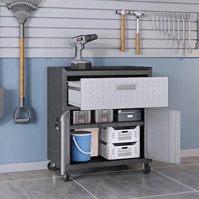 Steel Freestanding Garage Cabinet in Gray (30 in. W x 32 in. H x 18 in. D)