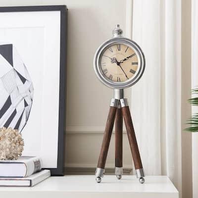 Tripod Cream Timepiece Decor